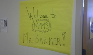 Welcome Mr. Barker