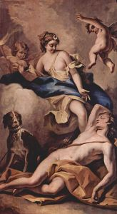 Selene and Endymion by Sebastiano Ricci
